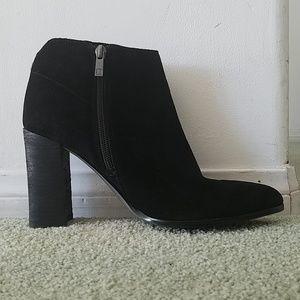 Ivanka trump black suede booties sz. 9.5